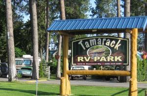 Tamarack RV Park Sign